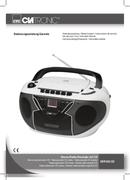 Página 1 do Clatronic SRR 833
