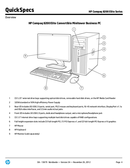 HP 8200 Microtower page 4