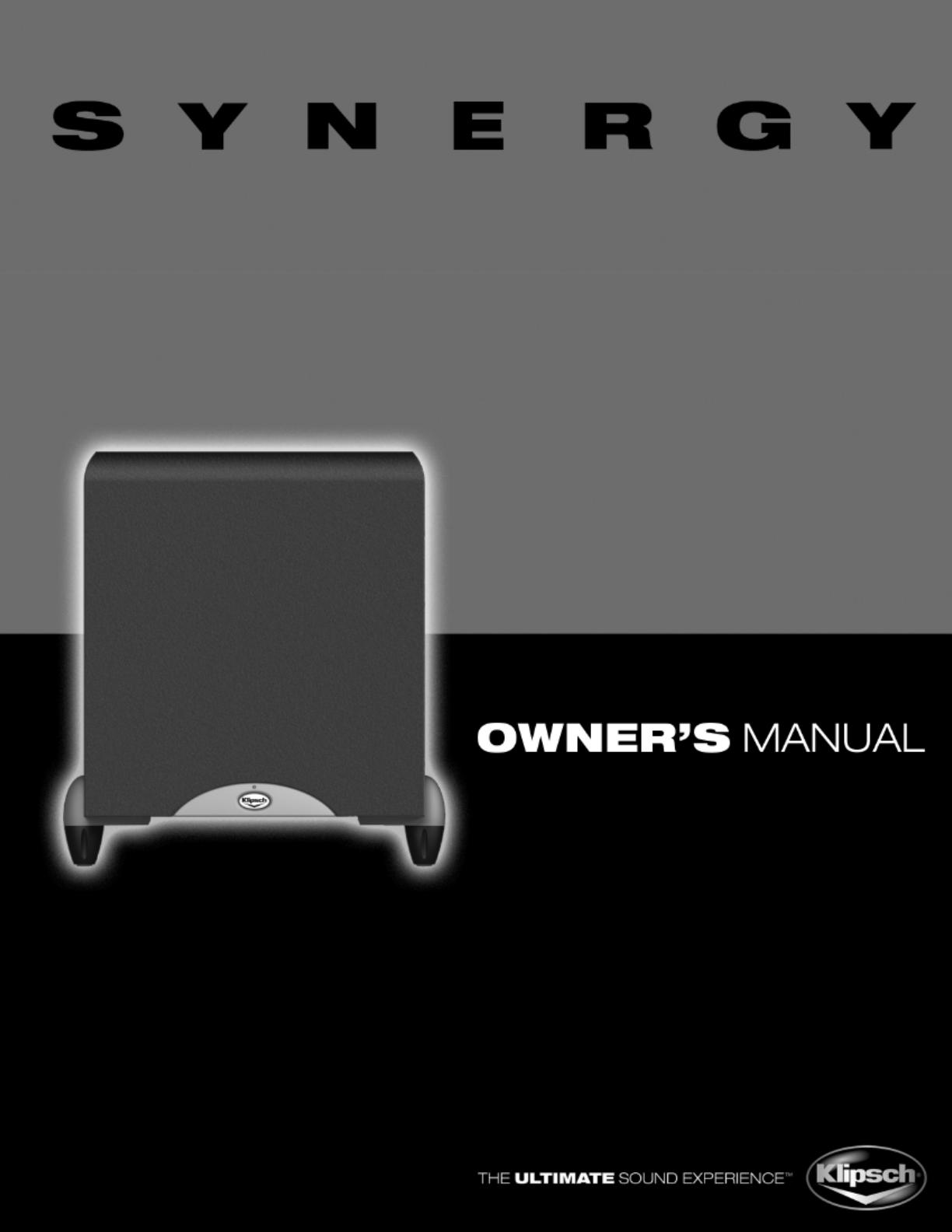 Klipsch SUB-10 manual on klipsch sw ii 8, klipsch synergy diagram 12, klipsch sub-12hg, klipsch ksw 10 manual, klipsch promedia 5 1 amp repair, klipsch thx computer connect to desktop, klipsch promedia v 2 400 repair,