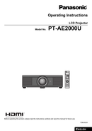Panasonic PT-AE2000U page 1
