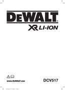 DeWalt DCV517 page 1