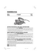 Metabo P 20ST Seite 1