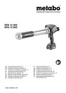 Metabo KPA 12 400 Seite 1