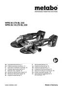 Metabo WPB 36 LTX BL 230 Seite 1