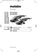 Metabo W 23-230 Seite 1