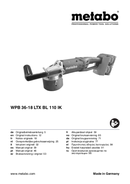 Metabo WPB 36-18 LTX BL 110 IK Seite 1