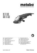 Metabo W 17-150 Seite 1
