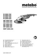 Metabo W 2200-180 Seite 1