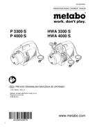Metabo P 4000 S Seite 1