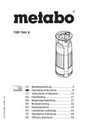 Metabo TDP 7501 S Seite 1