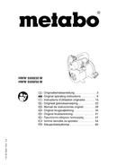 Metabo HWW 5500/20 M Seite 1