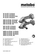 Metabo WB 18 LTX BL 125 Q SE Seite 1