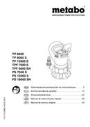 Metabo TP 8000 S Seite 1