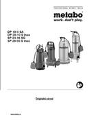 Metabo DP 18-5 SA Seite 1