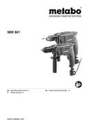 Metabo SBE 601 Seite 1