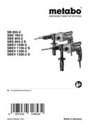 Metabo SBEV 1000-2 Seite 1