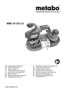Metabo MBS 18 LTX 2.5 Seite 1