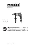 Metabo BE 75-16 Seite 1