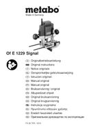 Metabo OFE 1229 SIGNAL Seite 1