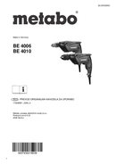 Metabo BE 4006 Seite 1