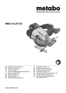 Metabo MKS 18 LTX 58 Seite 1