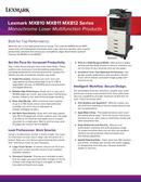 Lexmark MX812dxme side 1