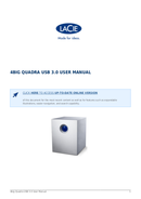 Página 1 do LaCie 4big Quadra USB 3.0
