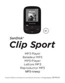 Sandisk Clip Sport pagina 1