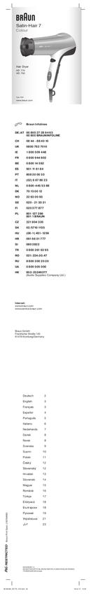 Braun Satin Hair 7 HD 750 pagina 1