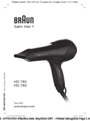 Braun Satin-Hair 7 HD 785 SensoDryer pagina 1