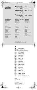 Braun Aromaster KF 63 pagina 1