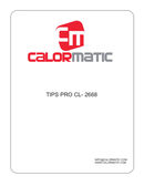 página del Calormatic Pro CL 2668 1