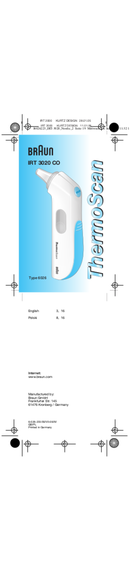 Braun ThermoScan 6026 pagina 1