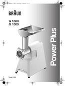 Braun Multiquick 3 Fleischwolf G 1300 side 1