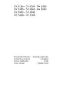 AEG DK 9160-M sivu 1