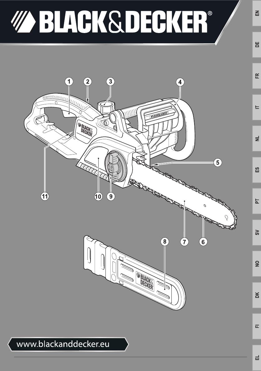 Type 3 Black /& Decker Genuine Spare Parts GK1935 Chainsaw