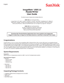 Sandisk Imagemate Reader USB 3.0 pagina 1
