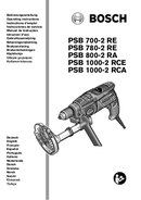 página del Bosch PSB 780-2 RE 1