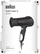 Braun HD550 Satin Hair 5 pagina 1