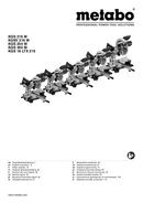 Metabo KGS 216 M Seite 1