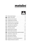 Pagina 1 del Metabo STEB 140 Plus