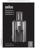 Braun Multiquick 5 J500 sayfa 1