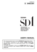 Sigma SD1 side 1