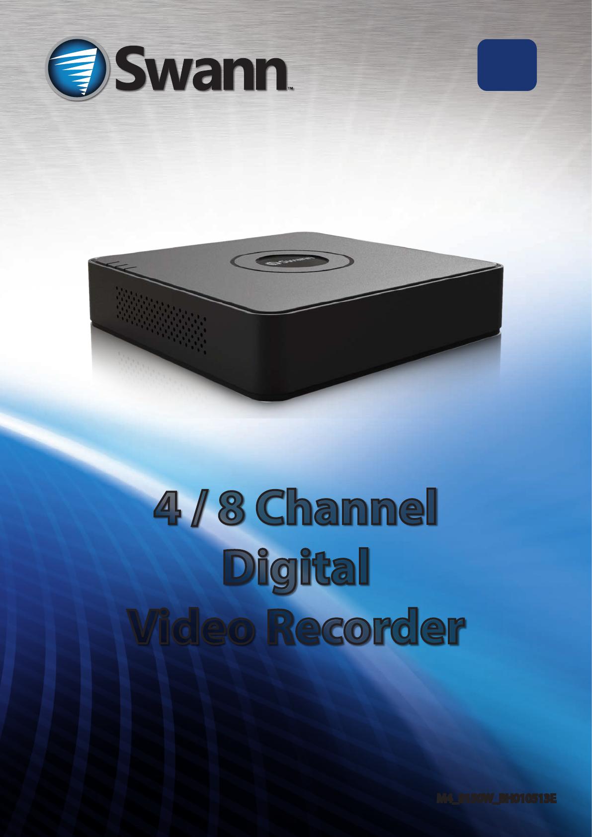 Swann DVR4-1500 manual
