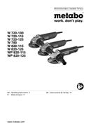 Metabo WP820-115 sayfa 1