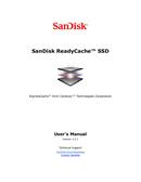 Sandisk READYCACHE side 1