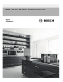 Bosch 500 Series WTG86401UC pagina 1
