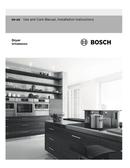 Bosch 800 Series WTG86402UC pagină 1