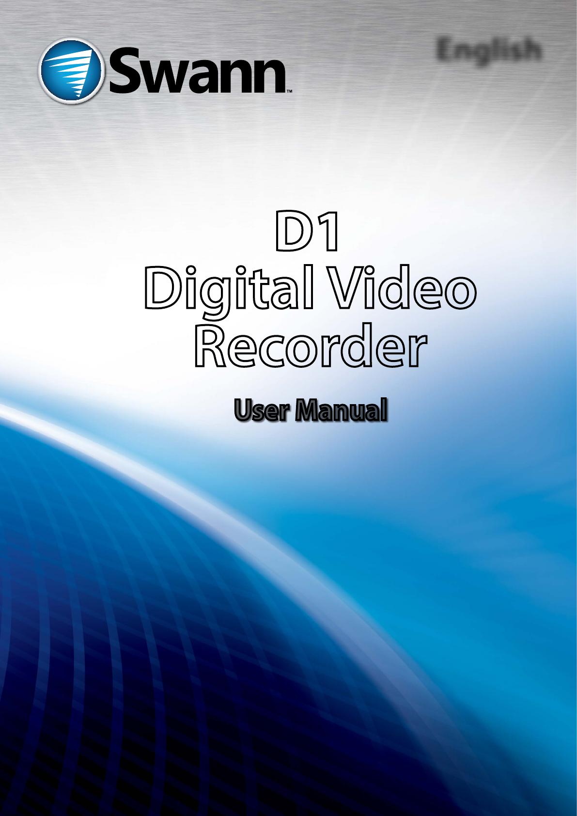 Swann DVR8-1260 manual