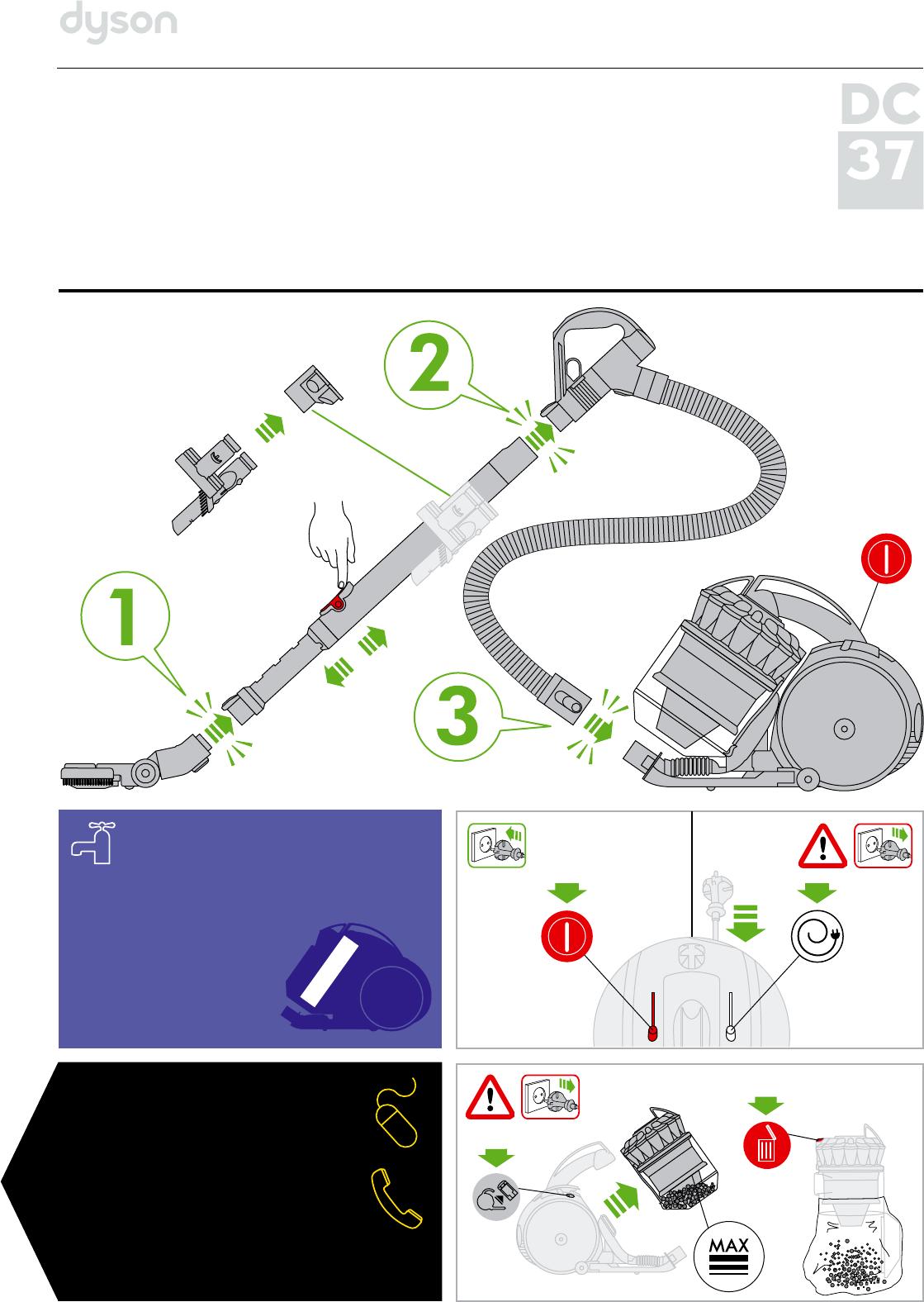 инструкции к пылесосу дайсон